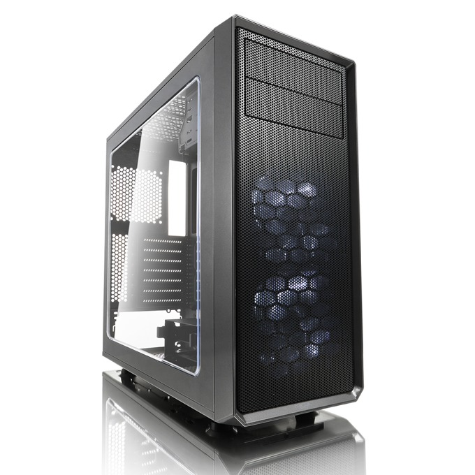 Кутия Fractal Design Focus G, ATX/mATX/ITX, USB 3.0, прозорец, сива, без захранване image