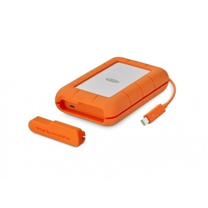 """Твърд диск 4TB Lacie Rugged (оранжев), външен, 2.5"""" (6.35 cm), Thunderbolt image"""
