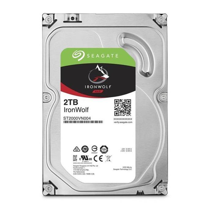 """Твърд диск 2TB Seagate IronWolf, SATA 6Gb/s, 5900 rpm, 64MB, 3.5"""" (8.89 cm) image"""