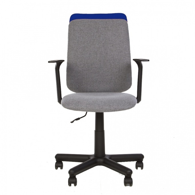 Работен стол Nowy Styl Victory, пластмасови подлакътници, газов амортисьор, коригиране на височината, сив/син image