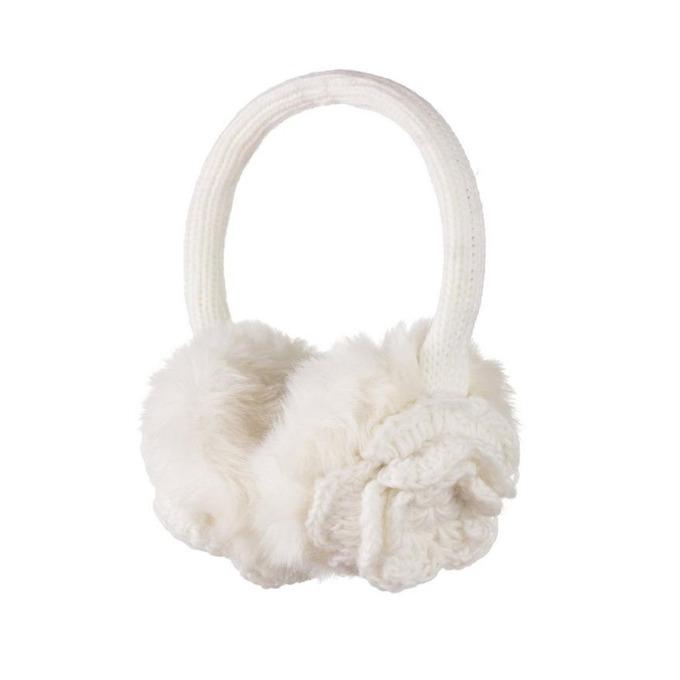 Слушалки KitSound Flower Knit Audio Earmuffs, 40mm говорители, 3.5mm jack, 103dB, бели image