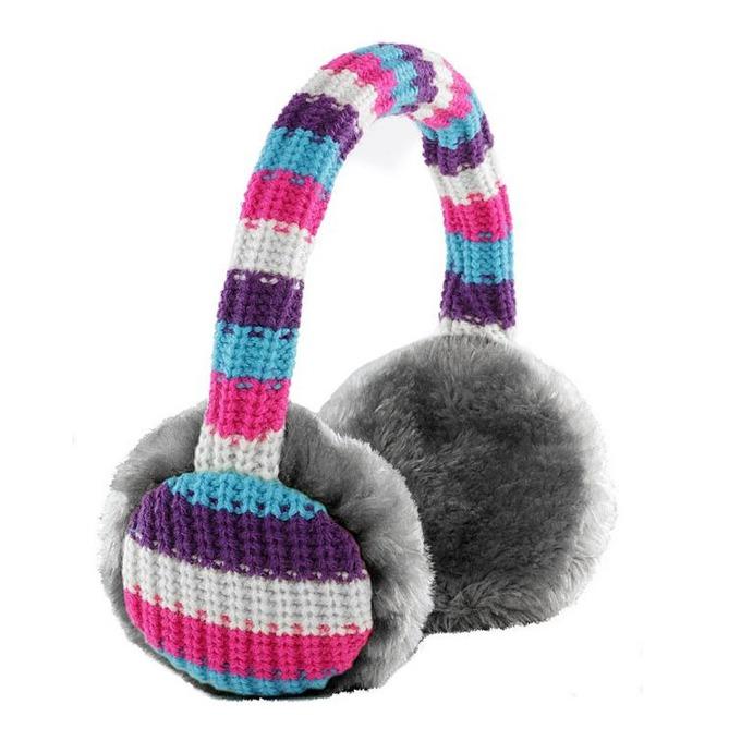 Слушалки KitSound Striped Knit Audio Earmuffs, 3.5mm jack, 103dB image