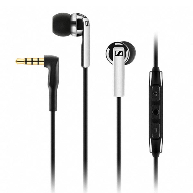 Cлушалки Sennheiser CX 2.00G, микрофон, дълбок бас, 1,2м кабел, ъглов 3.5мм жак, бързи бутони, черни image