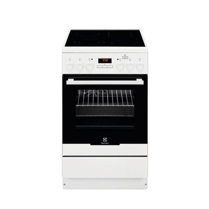 Готварска печка Electrolux EKC 54952 OW, клас А, 4 нагревателни зони, 58 л. обем на фурната, бяла image