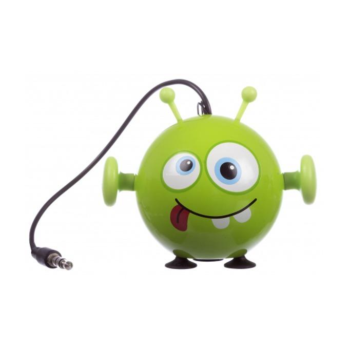 Тонколона KitSound Mini Buddy Alien, 1.0, 2W, USB, зелена, вградена Li-Ion батерия image