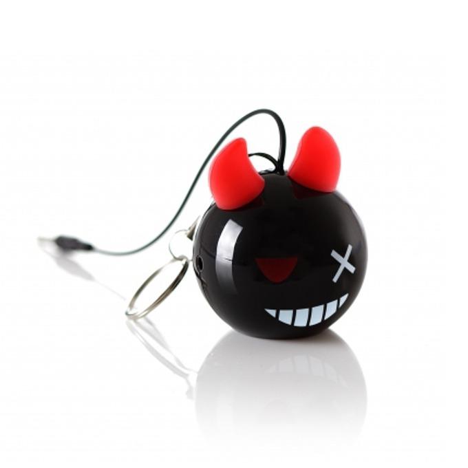 Тонколона KitSound Mini Buddy Devil, 1.0, 2W, черна, USB, вградена Li-Ion батерия image