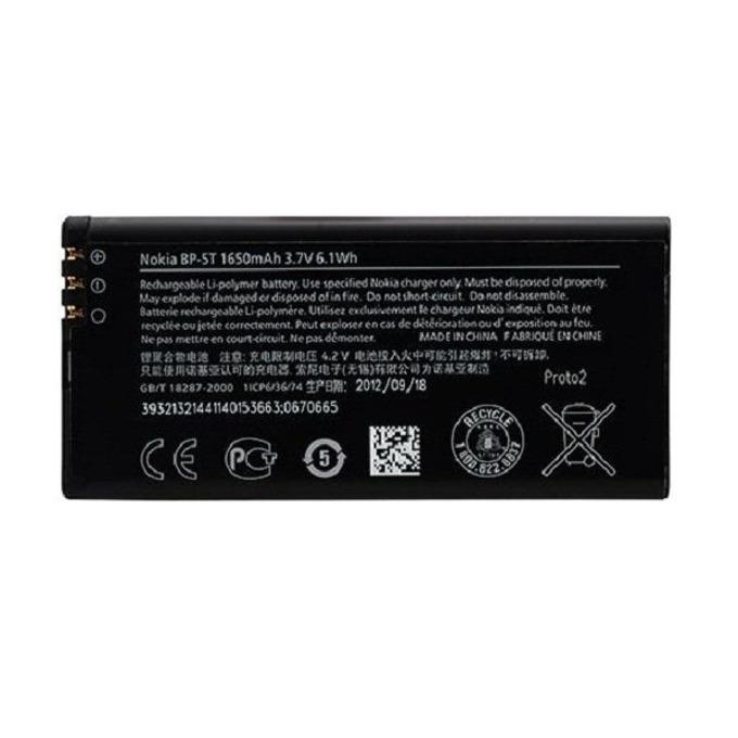 Батерия (оригинална) Nokia BP-5T за Nokia Lumia 820, 1650mAh/3.7V, Bulk image
