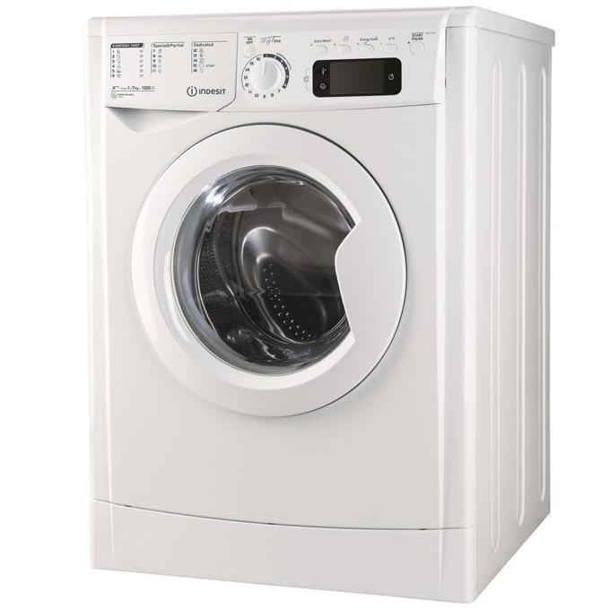 Перална машина Indesit EWE 71053 W EU, клас A+++, 7 кг. капацитет, 1000 оборота в минута, свободностояща, 60 cm. ширина, дисплей, бяла image