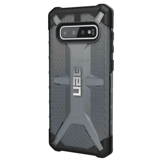 Калъф за Samsung Galaxy S10+, хибриден, Urban Armor Plasma 211333114343, удароустойчив, черен-прозрачен image