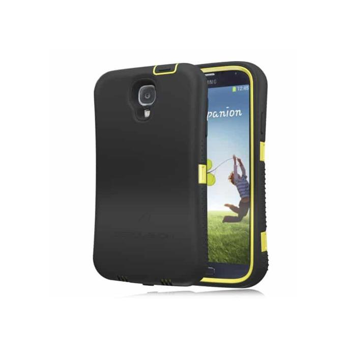 Протектор Zerolemon с батерия за Samsung Galaxy S4 (R), черен с жълт кант image