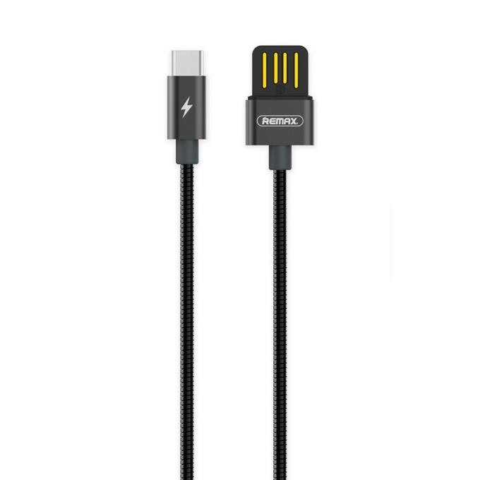 Кабел Remax Silver Serpent RC-080a, от USB А(м) към USB Type-C (м), размер на кабела 1.0м, различни цветове image