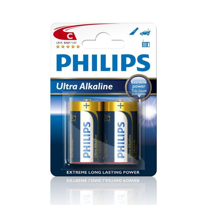 Батерии 2x Philips Ultra Alkaline (C), 1.5V image