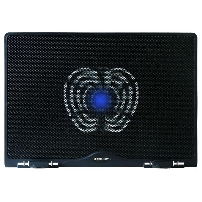 Охлаждаща поставка за лаптоп TeckNet N3 за Mac и преносими компютри, ергономична, тих вентилатор, черна image