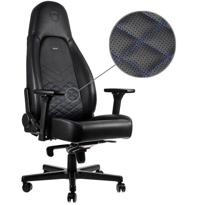Геймърски стол noblechairs Icon, черен/син image