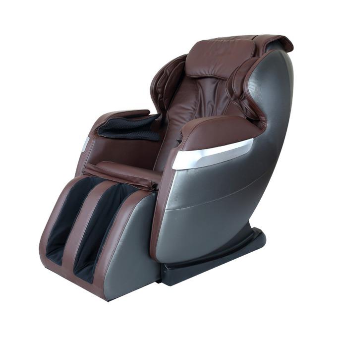 Масажен стол Rexton GJ-5101, еко кожа, ролков механизъм, многофункционално дистанционно управление с дисплей, колела, крачна секция, кафяв image
