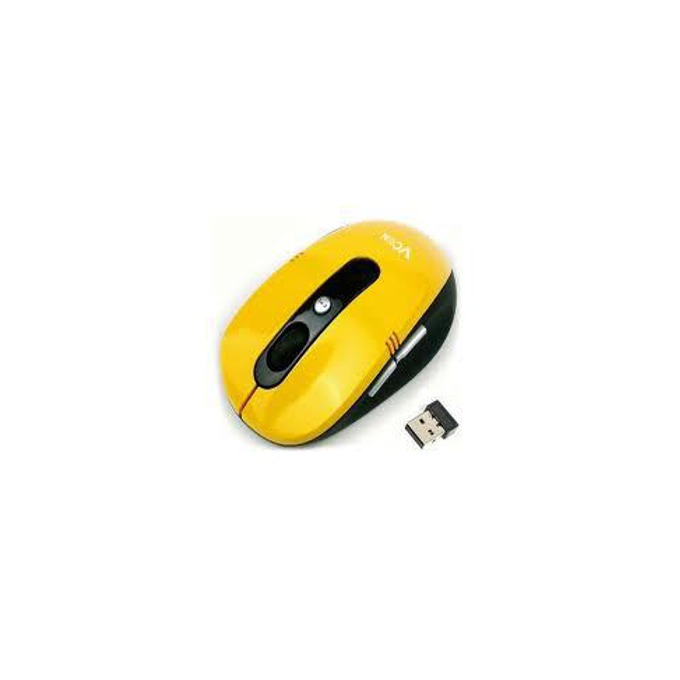 Мишка VCom DM502, безжична, оптична 1000dpi, жълта, USB  image