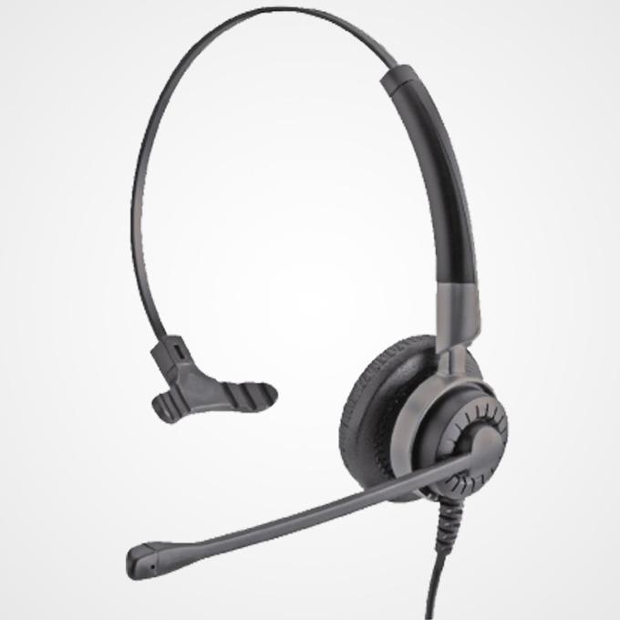 Слушалки IPN H700 NC IPN005, 2.5mm жак, моно слушалка с един говорител, шумоподтискащ микрофон, професионални за офиси и кол центрове, черни image