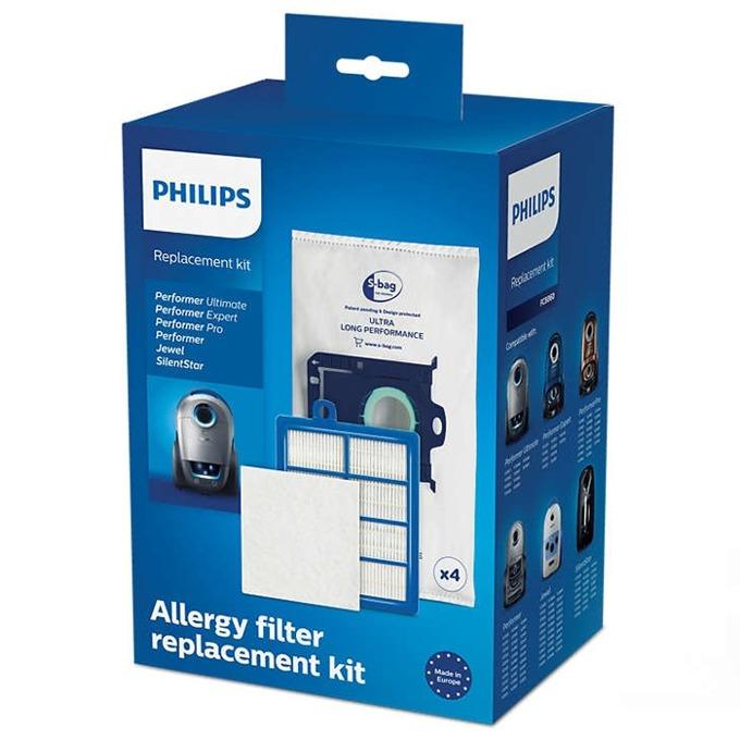 Торби за прах Philips PerformerPro FC8060/01, 4x торбички за прах (s-bag ULP), 1x HEPA13 филтър, 1x трислоен филтър за мотор, 4x аромат на лимон (s-fresh) image