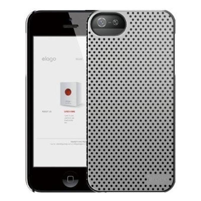 Поликарбонатов протектор Elago S5 Breatheза iPhone 5, iPhone 5S, сив, HD покритие image