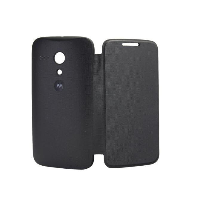 Flip Case за Motorola, оригинален, тип портфейл за Motorola Moto G, черен image