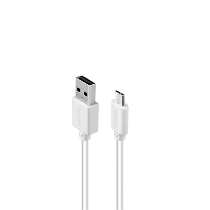 Кабел Acme CB1011 от USB A(м) към USB Micro B(м), 1м, бял image