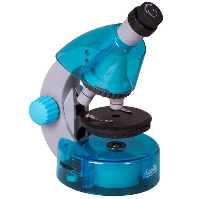 Микроскоп Levenhuk LabZZ M101 Azure, увеличение до 640x, набор за експерименти image