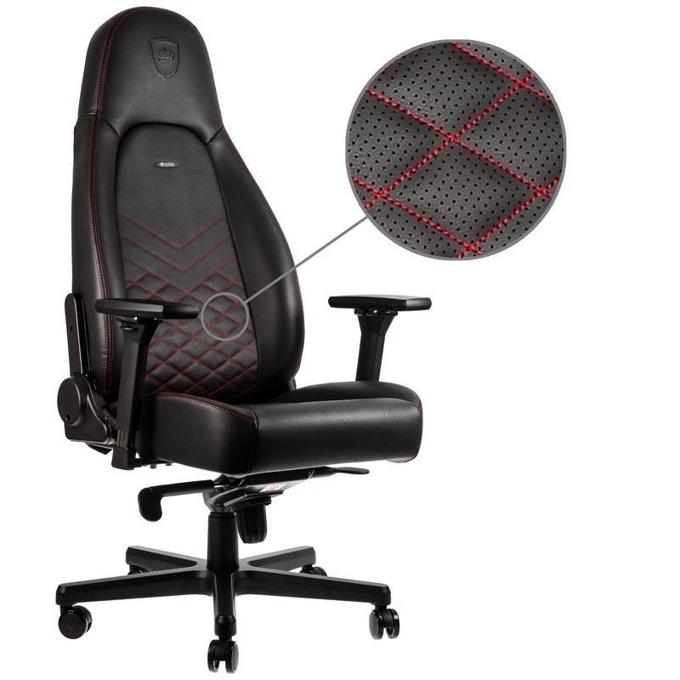 Геймърски стол noblechairs Icon, черен/червен image