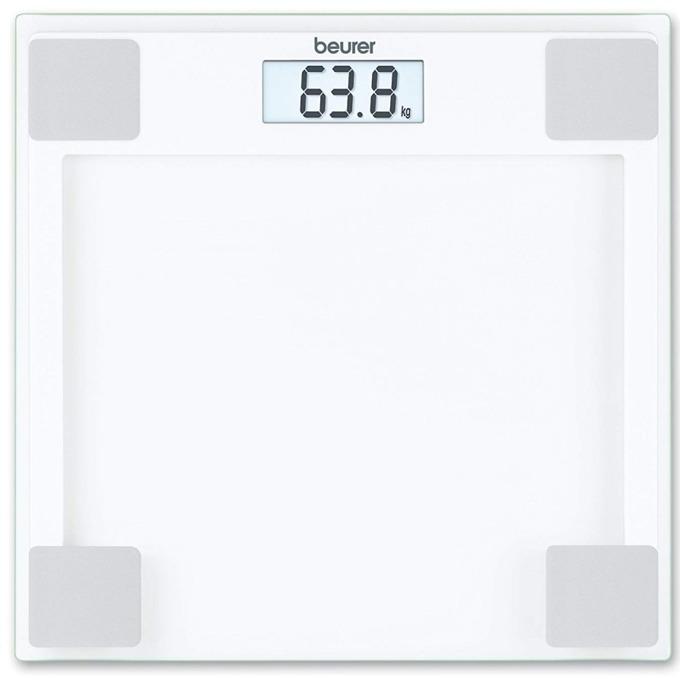 Цифров кантар Beurer GS 14, капацитет 150 кг, LCD дисплей, с включена батерия, стъклен image