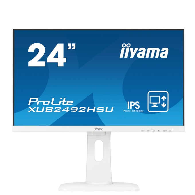 "Монитор Iiyama Prolite XUB2492HSU-W1, 24""(60.96 cm) IPS панел, QHD, 5ms, 50000000:1, 250 cd/㎡, HDMI, Display Port, VGA image"