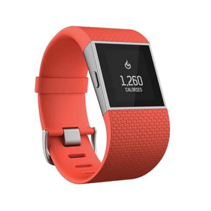 Смарт часовник Fitbit Surge Large Size, GPS, Bluetooth, Mac OS X 10.6 (или по-нова), iPhone 4S (или по-нова), iPad 3 gen. (или по-нова), Android and Windows devices, оранжев image