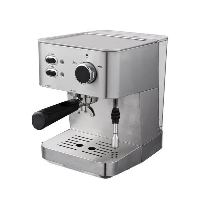"""Ръчна еспресо кафемашина Finlux FEM-1697 IMPRESSION LATTE, 15 bar, 1.5л резервоар, двоен филтър за каймак, функция """"капучино"""", 1050W, инокс image"""
