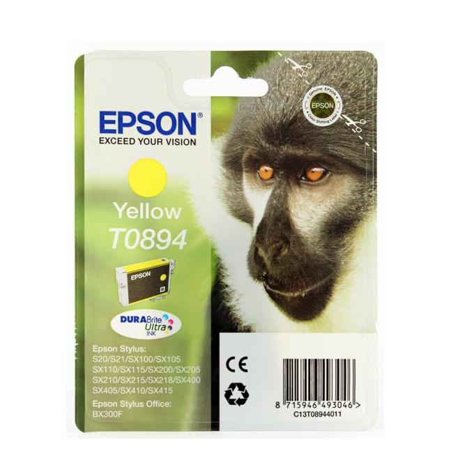 ГЛАВА ЗА EPSON STYLUS S20/SX100/105/200/205/400/405/BX300F - Yellow - P№ C13T08944010 - заб.: 3.5ml. image