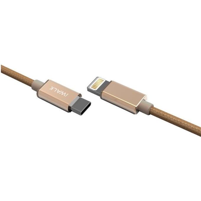 Кабел iWalk, USB Type C(м) към Lightning(м), 1m, златист image