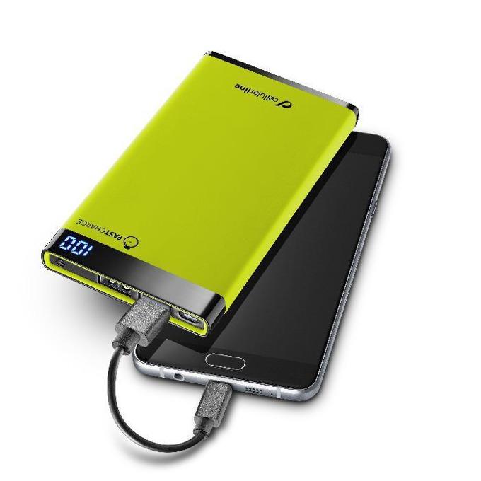 Външна батерия/power bank/ Cellular Line FreePower Manta, 6 000 mAh, Два USB изхода, зелена image