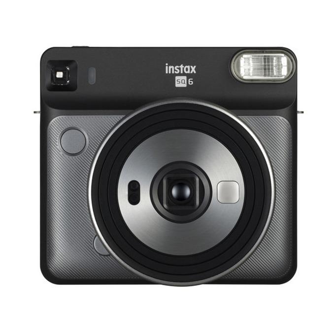 Фотоапарат Fujifilm Instax Square SQ6 (сив), моментални снимки, светкавица, Selfie Mirror image