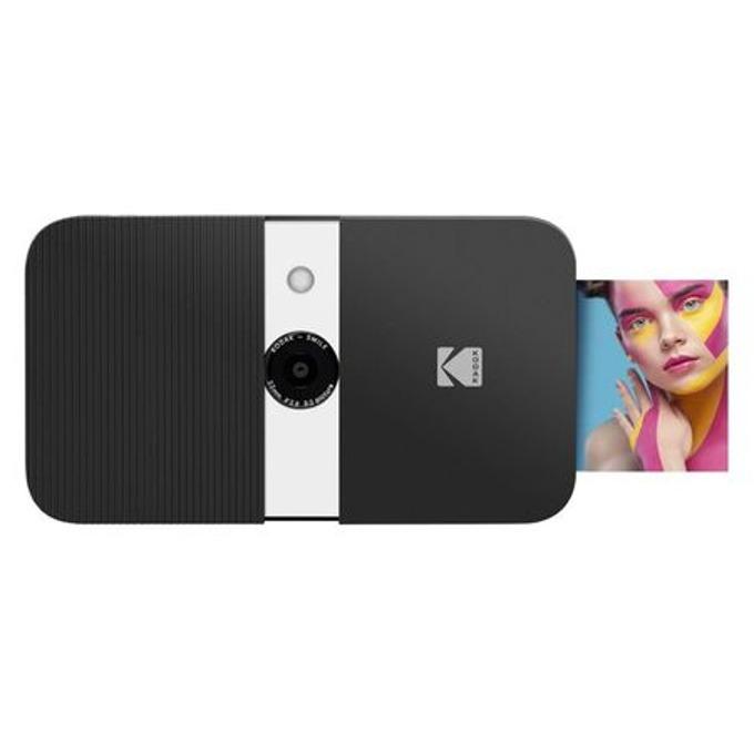 Фотоапарат Kodak Smile RODSMCAMBW(черен), 10 Mpix, снимки с размер 2x3ʺ на хартия ZINK, LCD дисплей, MicroSD до 256GB image