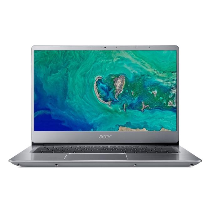"Лаптоп Acer Aspire Swift 3 SF314-56-561M (NX.H4CEX.010)(сребрист), четириядрен Whiskey Lake Intel Core i5-8265U 1.6/3.9 GHz, 14.0"" (35.56 cm) Full HD IPS Anti-Glare Display, (HDMI), 8GB DDR4, 512GB SSD, 1x USB Type-C, Windows 10 image"