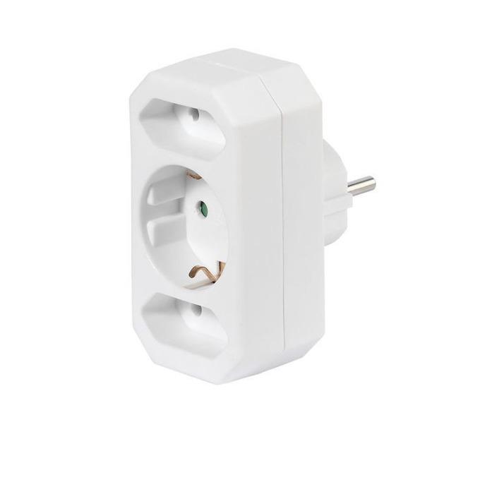 Vivanco 17462 3 socket(2xEU) White