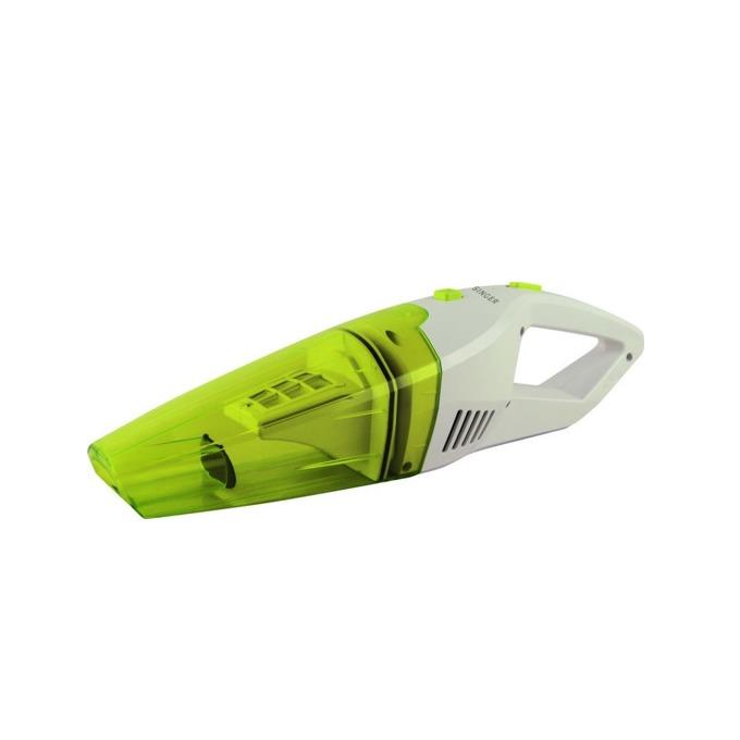 Прахосмукачка Singer HVC72WD, ръчна, без торба, 60W, 1400 mAh батерия, за мокри и сухи повърхности, 10 минути време за работа, зелена image