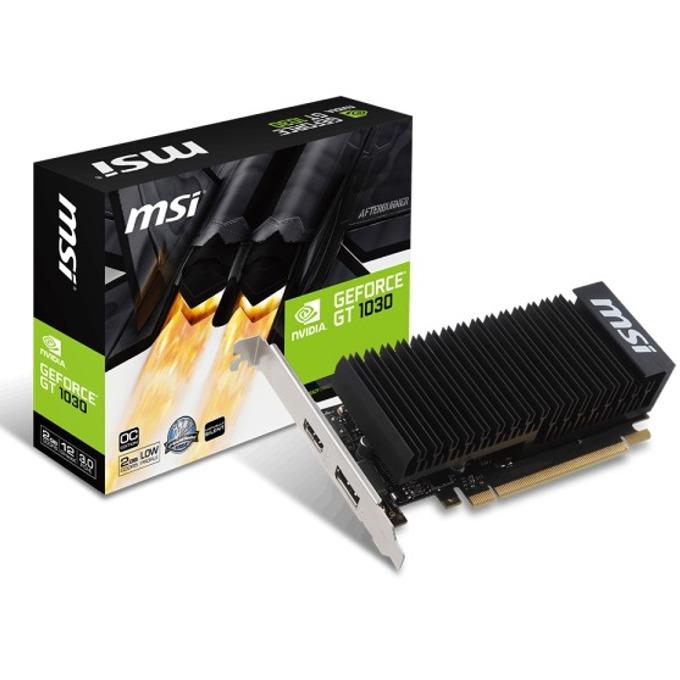 Видео карта nVidia GeForce GT 1030, 2GB, MSI GeForce GT1030 2GH LP OC, PCI-E 3.0, GDDR5, 64 bit, HDMI, DisplayPort image