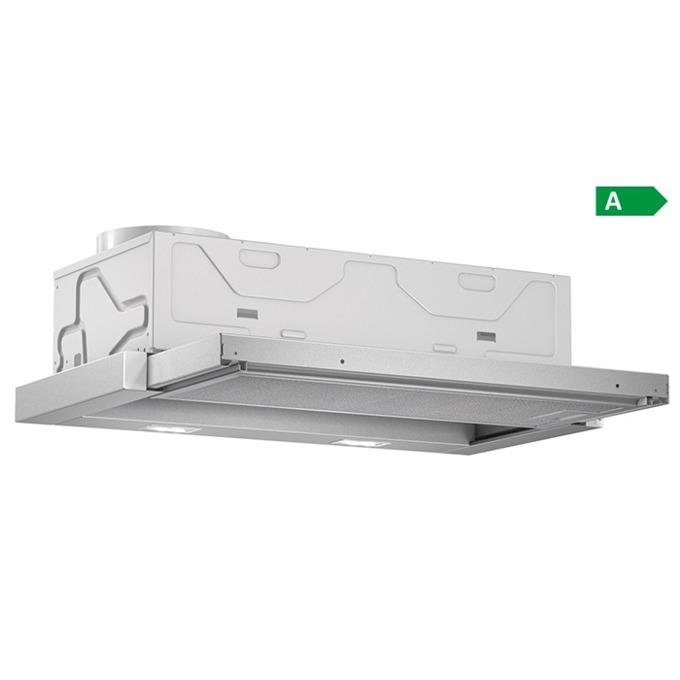 Абсорбатор Bosch DFL 064 A 50, за вграждане, телескопичен, енергиен клас А, 420 m³/h, 2 мотора, 3 степени на мощност, бял image