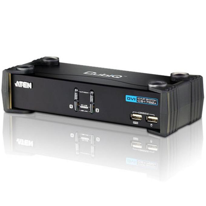 KVM Switch ATEN CS1762, от 4x USB A(ж), 1x DVI(ж), 2x 3.5mm jack(ж) към 2x DVI(ж), 2x USB B(ж), 4x 3.5mm jack(ж), 1 устройство image