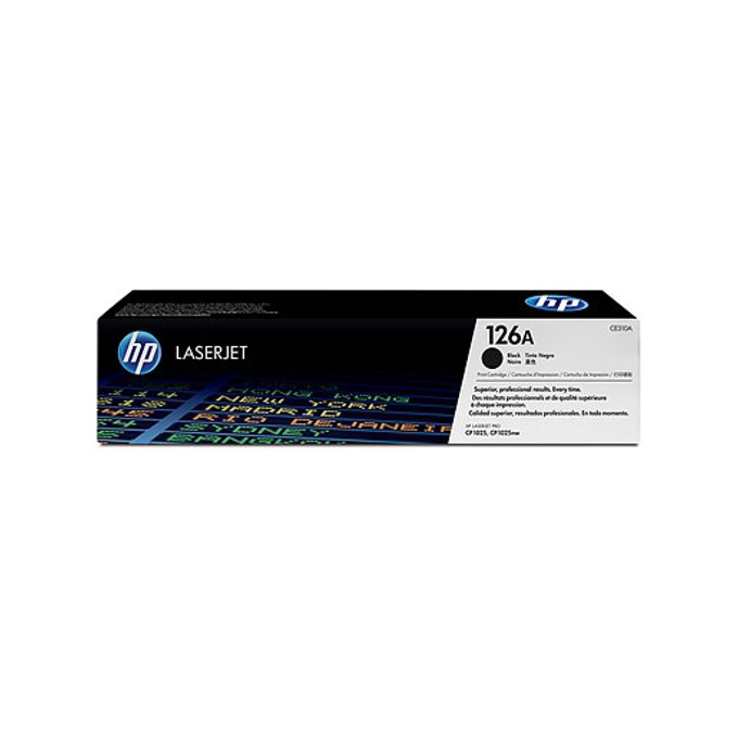КАСЕТА ЗА HP COLOR LASER JET CP1025/1025NW/HP126A Print Cartridge - Black - P№ CE310A - заб.: 1200k image