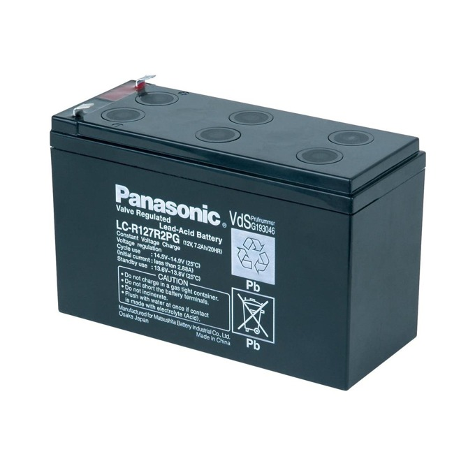 Акумулаторна батерия Panasonic LC-R127R2PG, 12V, 7.2Ah, VRLA image