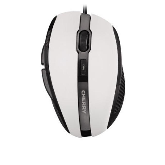 Мишка Cherry 3000, оптична (1000 dpi), USB, бяла/черна image