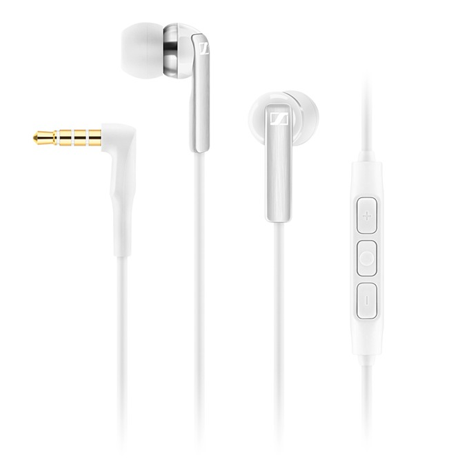 Слушалки Sennheiser CX 2.00i, микрофон, 18Hz-20kНz честотен диапазон, 1.2 м ĸaбeл, бели image