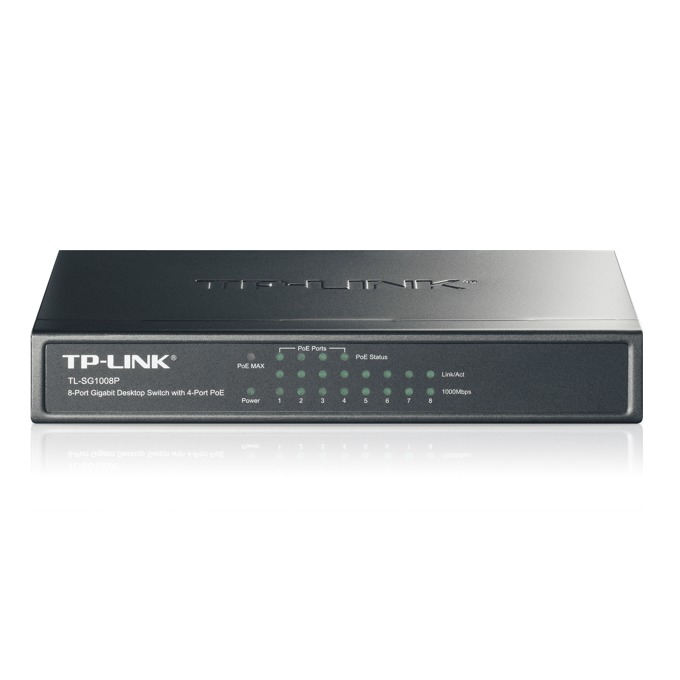 Суич TP-Link TL-SG1008P, 1000Mbps, 8Port, PoE image