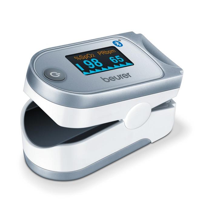 Уред за измерване на пулс и кислород в кръвта Beurer PO60, Графичното показване на пулса, цветен дисплей, 100 позиции за запаметяване на измерванията, Bluetooth®, Beurer HealthManager App image