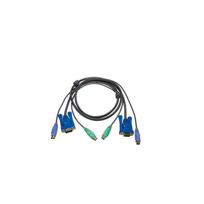 KVM кабел ATEN 2L-5003P/C, VGA(м) + 2x PS2(м) към VGA(ж) + 2x PS2(м), Slim, 3.0 м image