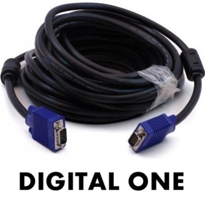 Кабел Digital One VGA SP00077, от VGA(м) към VGA(м), 15m, черен image